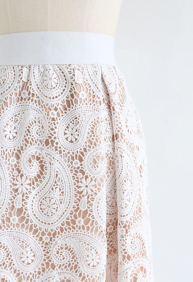 Full Crochet A-Line Midi Skirt