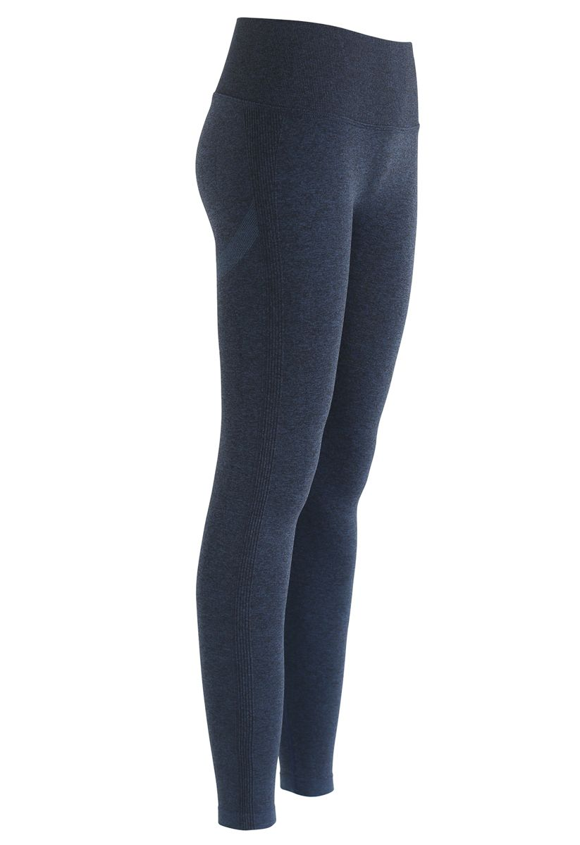 Butt Lift High-Rise Fitted Leggings in Navy