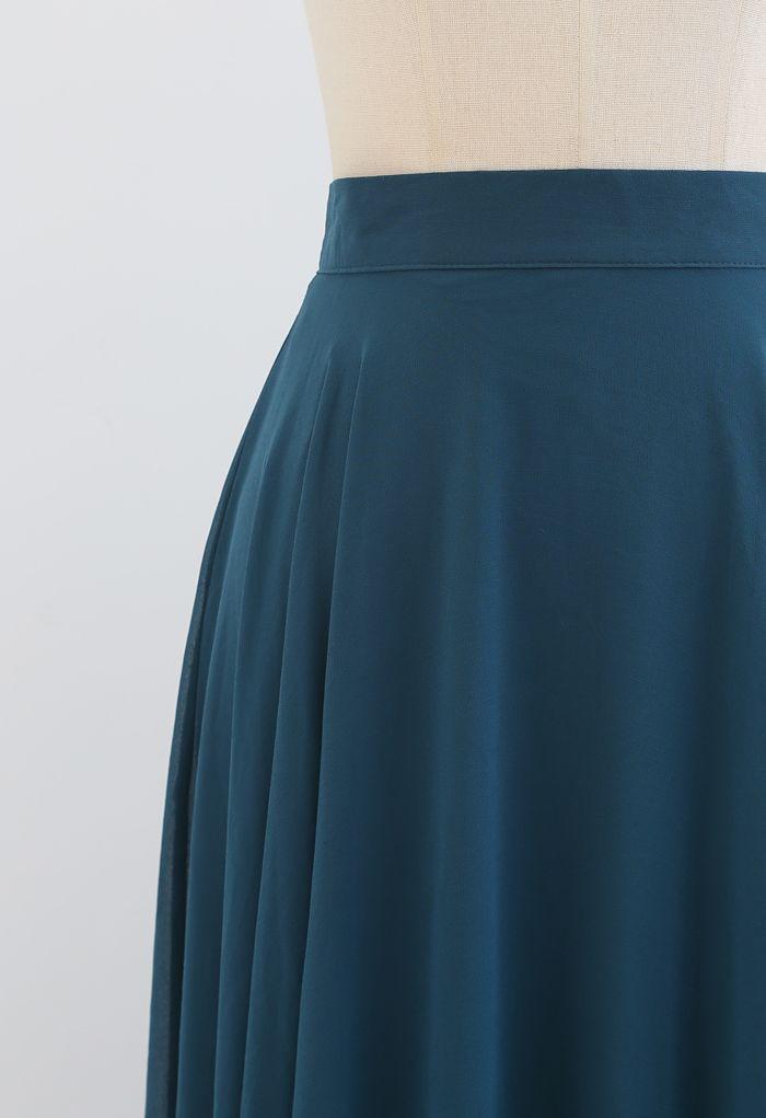 Timeless Favorite Chiffon Maxi Skirt in Dark Green