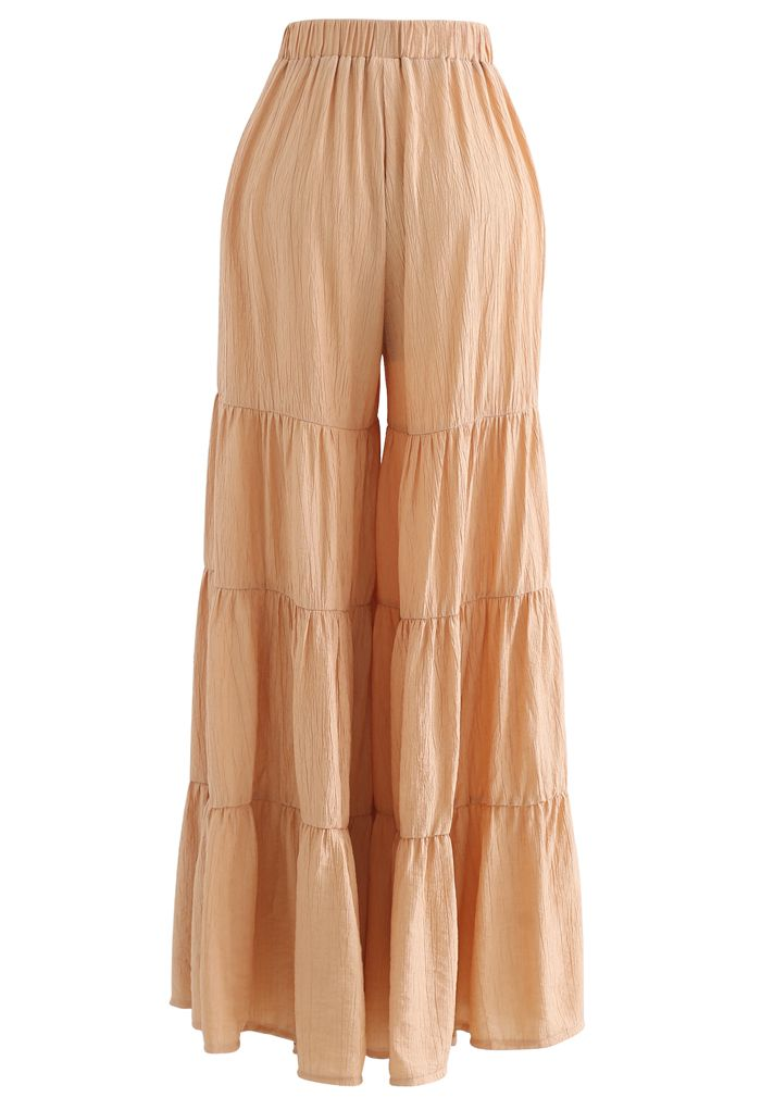 Sunny Days Wide-Leg Pants in Apricot