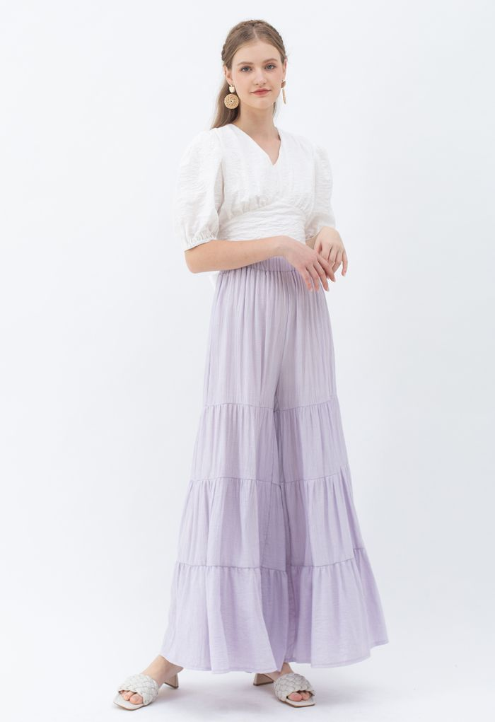 Sunny Days Wide-Leg Pants in Lilac