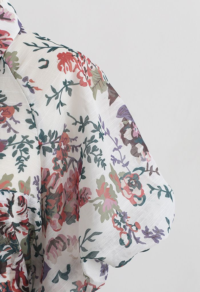 Groovy Floral Printed Shirt and Shorts Set