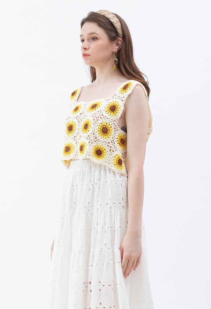Sunflower Hollow Out Cropped Cami Top