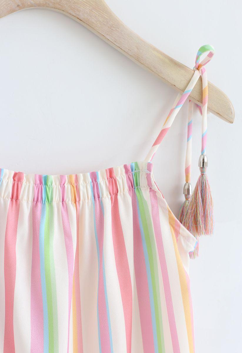Rainbow Candies Stripes Maxi Dress For Kids