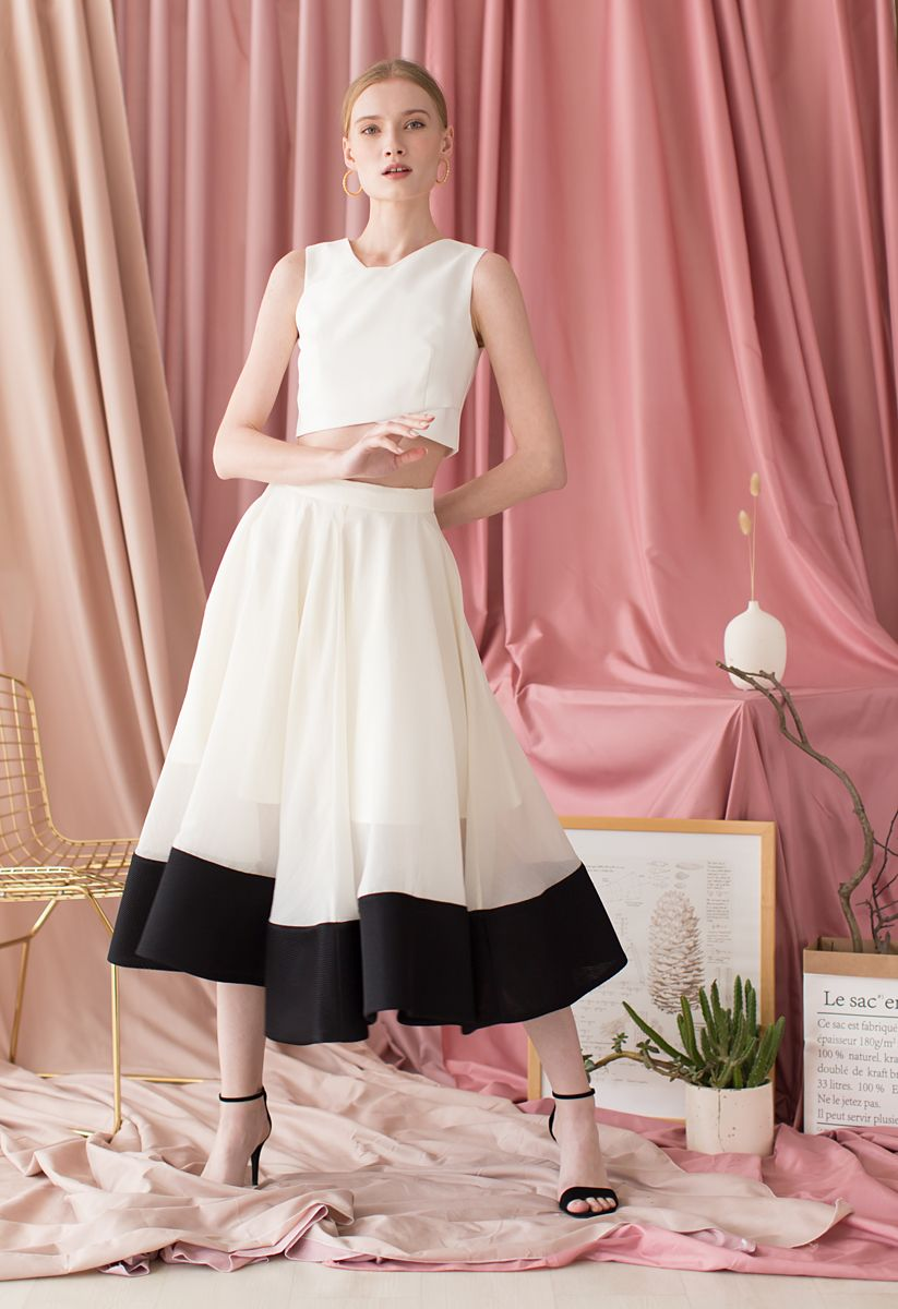Swing In the Breeze Organza Midi Skirt