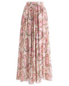 Botanical Garden Watercolor Maxi Skirt