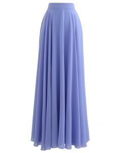 Timeless Favorite Chiffon Maxi Skirt in Light Blue