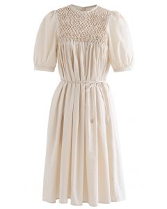 Diamond Honeycomb Dolly Dress in Cream