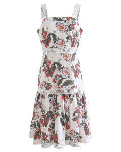 Strawberry and Flower Print Cami Dress