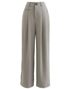 Sage Green High Waisted Wide Leg Pants