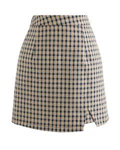 Classy Check Pattern Mini Bud Skirt