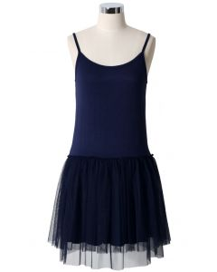 Ballet Tulle Dress in Navy Blue