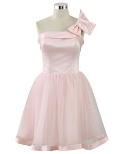 Bowknot Bustier Tulle Prom Dress in Pink