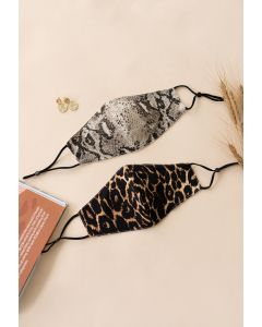 2 Packs Animal Print Face Coverings
