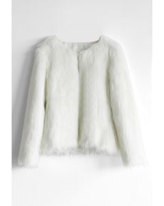 My Chic Faux Fur Coat in White