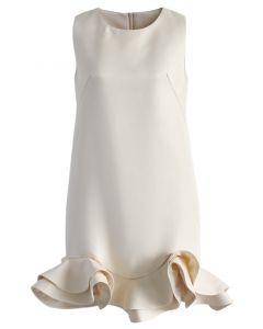 Silky Fragrance Night Peplum Shift Dress