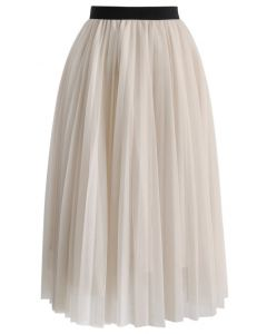Dreamy Mesh Pleats Tulle Skirt
