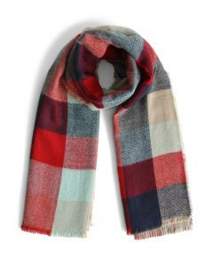 Color My Life Woolen Scarf in Check