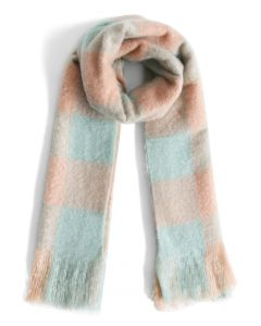Pastel Colors Gingham Scarf