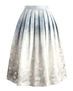 Glorious Sparkles Print Midi Skirt
