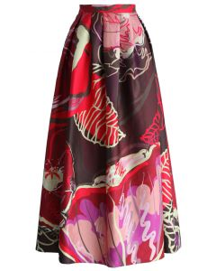Exotic Blooms Maxi Full Skirt
