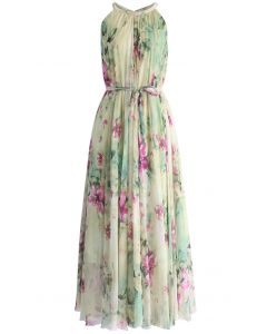 Flower Lullaby Maxi Slip Dress