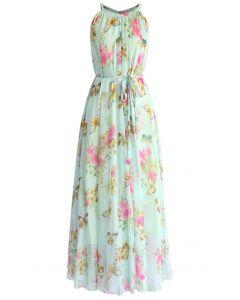 Serene Belle Floral Maxi Slip Dress