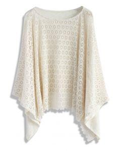 Lovely Daisy Crochet Poncho