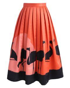Flame-Ingo Midi Skirt