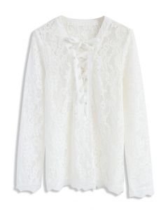 Lace with Lace Top in White