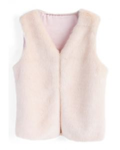 Pinky Sweet Faux Fur Vest