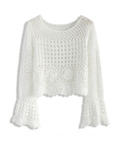 Romance of Knitted Cropped Top
