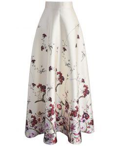 Serenity Floral Printed Maxi Skirt