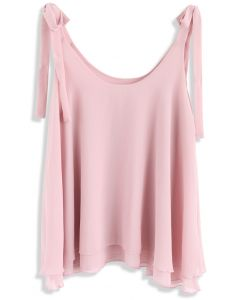 Feel the Breeze Cami Chiffon Top in Pink