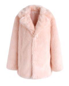 Pink Marshmallow Faux Fur Coat