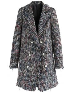 Flickering Attraction Double Breasted Tweed Coat