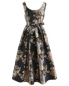 Splendid Era Sleeveless Jacquard Prom Dress in Black