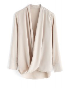 Hit The Spot Wrap Top in Cream