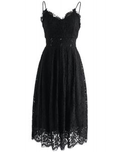 Spirit of Romance Lace Cami Dress in Black