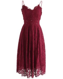 Spirit of Romance Lace Cami Dress in Wine