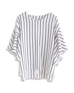 Take It Breezy Stripe Chiffon Top