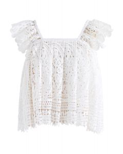 Moonlit Night Crochet Cropped Top