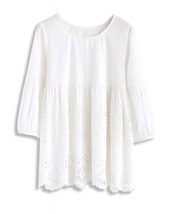 Eyelet Sweetie Embroidered Dolly Top