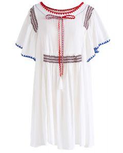 Born in Boho Land Dolly Dress in White