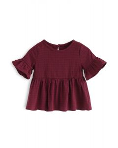 Embrace Felicity Wine Dolly Top For Kids