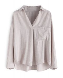 Thinking of You V-Neck Hi-Lo Top