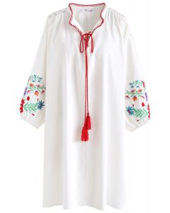 On and On Boho Embroidered Dress