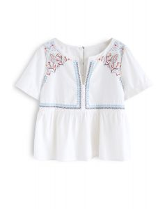 Eyes Open Boho Embroidered Top