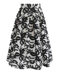 Tint Essence 3D Floral Honeycomb A-Line Skirt