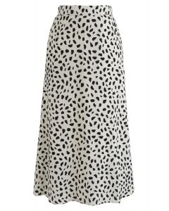 Something About Spot Chiffon Skirt in Ivory